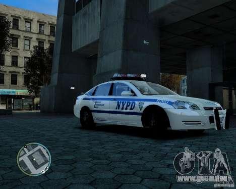 NYPD Chevrolet Impala 2006 [ELS] pour GTA 4 est une gauche