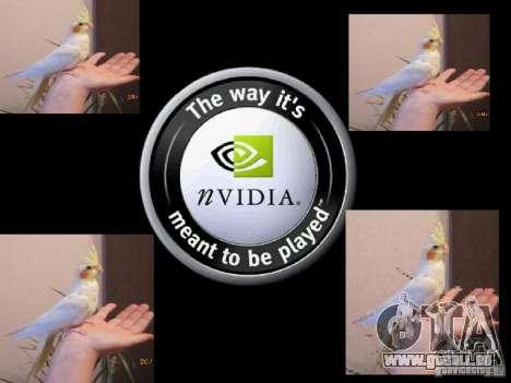 Bêta de Boot écran perroquet perroquets pour GTA San Andreas douzième écran