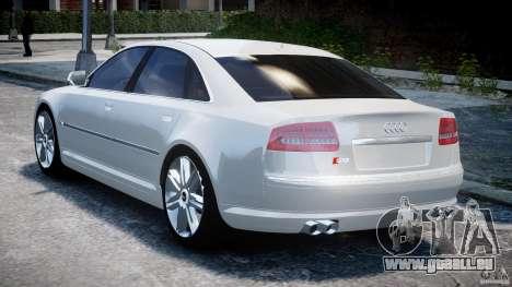 Audi S8 D3 2009 für GTA 4 hinten links Ansicht