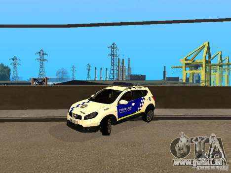 Nissan Qashqai Espaqna Police pour GTA San Andreas laissé vue