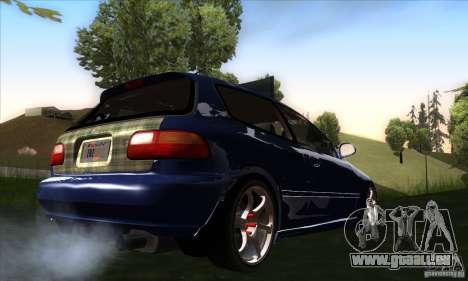 Honda Civic EG5 pour GTA San Andreas vue de droite