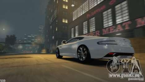 Aston Martin Virage 2012 v1.0 pour GTA 4 Vue arrière de la gauche