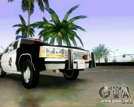 Ford Crown Victoria LTD 1991 SFPD pour GTA San Andreas vue intérieure