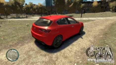 ALFA ROMEO GIULIETTA QUADRIFOGLIO VERDE pour GTA 4 est une vue de l'intérieur