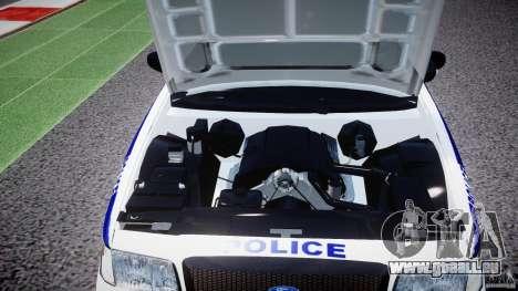 Ford Crown Victoria NYPD [ELS] für GTA 4 Rückansicht