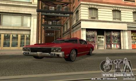 Sabre Drift für GTA San Andreas Seitenansicht