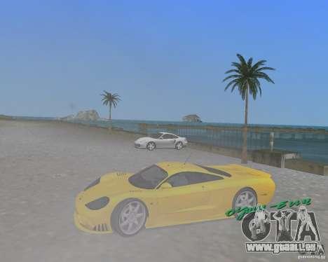 Saleen S7 pour une vue GTA Vice City de la droite