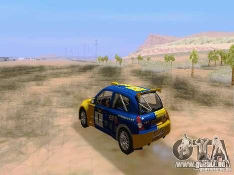 Renault Clio Super 1600 pour GTA San Andreas vue intérieure