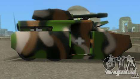Bundeswehr-Panzer für GTA San Andreas zurück linke Ansicht