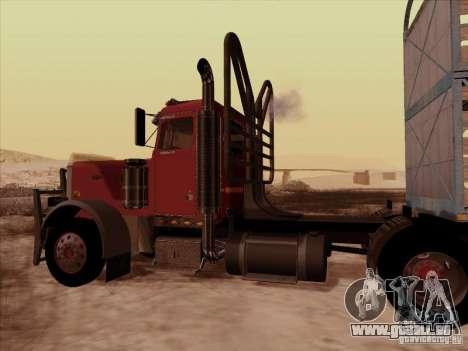 Peterbilt 359 Day Cab pour GTA San Andreas vue intérieure