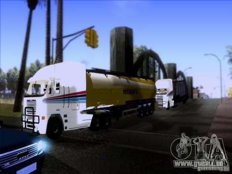 Freightliner Argosy Skin 3 pour GTA San Andreas vue intérieure