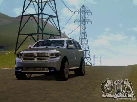 Dodge Durango 2012 pour GTA San Andreas vue arrière