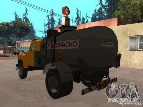 GAZ 53 camion pour GTA San Andreas sur la vue arrière gauche