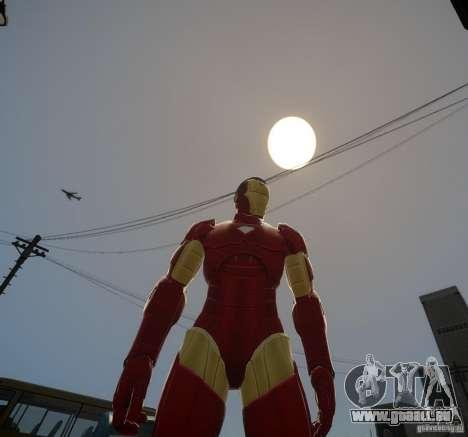 Iron Man Mk3 Suit für GTA 4 Sekunden Bildschirm