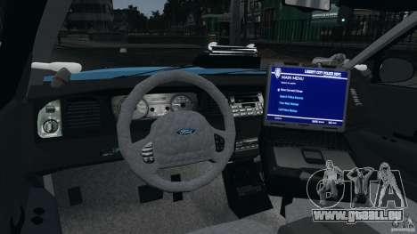 Ford Crown Victoria Police Unit [ELS] pour GTA 4 est un côté