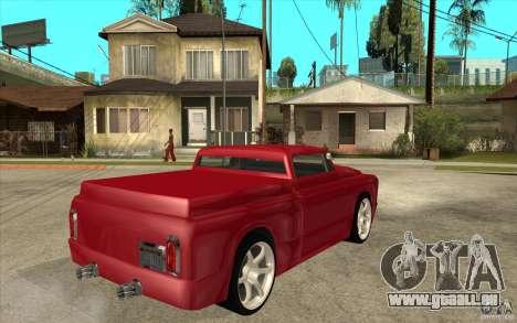 Slamvan Custom pour GTA San Andreas vue de droite
