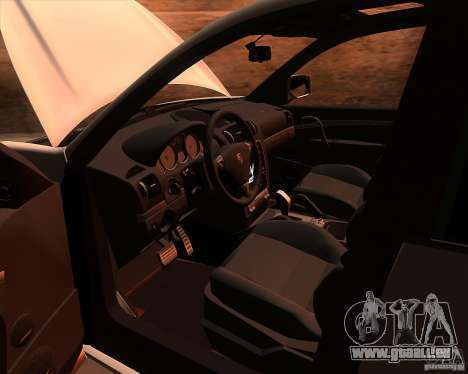 Porsche Cayenne Turbo S für GTA San Andreas Innenansicht