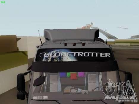 Volvo FH13 Globetrotter für GTA San Andreas obere Ansicht