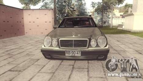 Mercedes-Benz E320 Funeral Hearse für GTA San Andreas zurück linke Ansicht