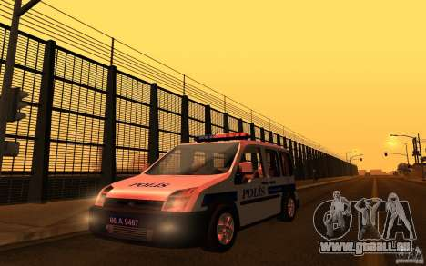 Ford Transit Connect Turkish Police für GTA San Andreas
