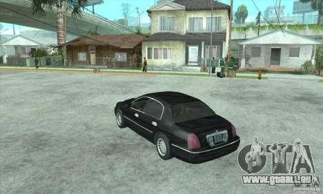 Lincoln Town Car 2002 pour GTA San Andreas laissé vue