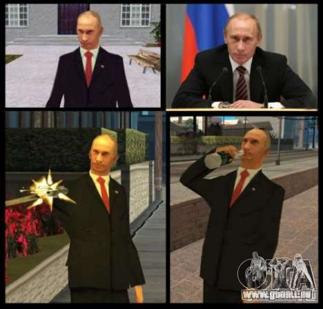 Vladimir Vladimirovich Putin für GTA San Andreas zweiten Screenshot