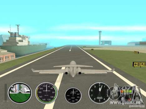 Instruments de l'air dans un avion pour GTA San Andreas