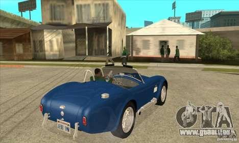 AC Shelby Cobra 427 1965 pour GTA San Andreas vue de droite