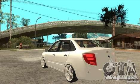 Lada Granta pour GTA San Andreas sur la vue arrière gauche