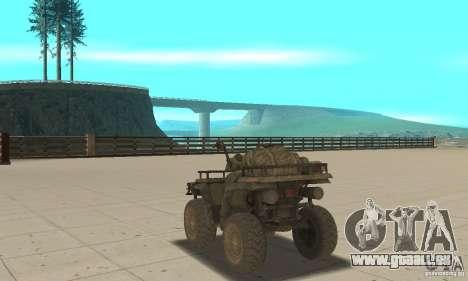 Neue Atv für GTA San Andreas zurück linke Ansicht