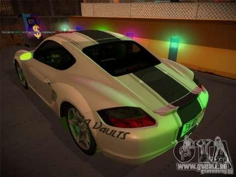Porsche Cayman S Snow pour GTA San Andreas sur la vue arrière gauche