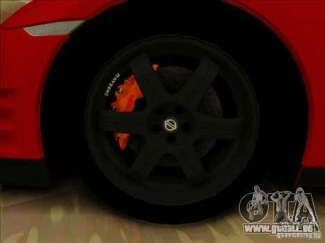Nissan GTR Egoist 2011 pour GTA San Andreas vue intérieure