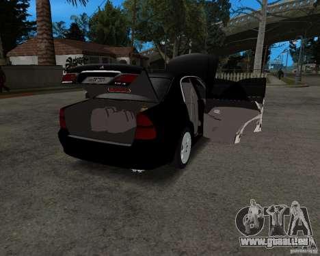 Mitsubishi Diamante für GTA San Andreas Rückansicht