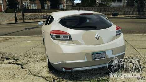 Renault Megane Coupe pour GTA 4 Vue arrière de la gauche