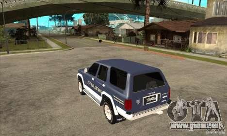 Toyota Surf v1.0 pour GTA San Andreas sur la vue arrière gauche