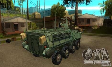 Stryker pour GTA San Andreas vue de droite