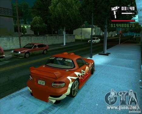 Mazda Miata Tunable pour GTA San Andreas sur la vue arrière gauche