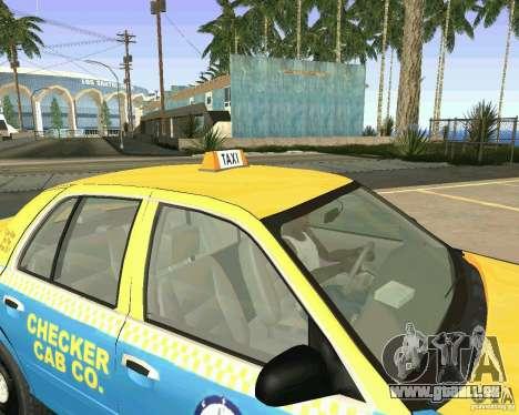 Ford Crown Victoria 2003 Taxi Cab pour GTA San Andreas vue intérieure