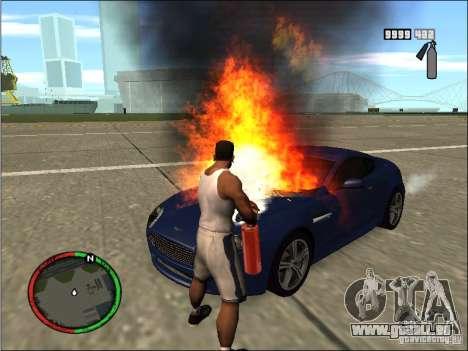 Auto-einen Feuerlöscher Löschmittel für GTA San Andreas dritten Screenshot
