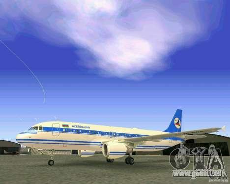 Airbus A-320 Azerbaijan Airlines pour GTA San Andreas vue de côté