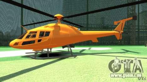 Helicopter From NFS Undercover pour GTA 4 Vue arrière de la gauche