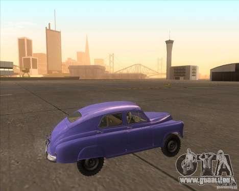 GAZ M72 für GTA San Andreas linke Ansicht