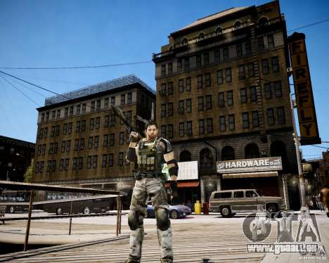 Chris from Resident Evil 5 für GTA 4 fünften Screenshot