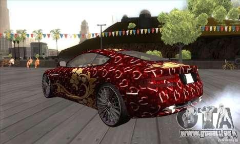 Aston Martin DB9 Female Edition pour GTA San Andreas sur la vue arrière gauche