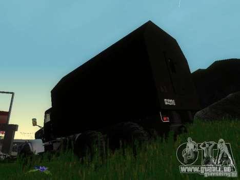 KrAZ-254 für GTA San Andreas zurück linke Ansicht