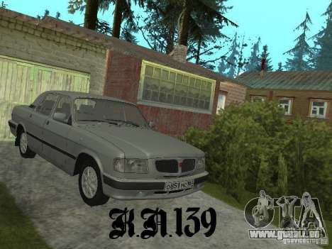 Gaz 3110 béta 0.1 pour GTA San Andreas