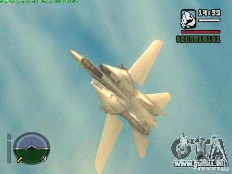 F 14 A TOMCAT für GTA San Andreas rechten Ansicht