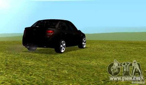 LADA Granta v2.0 pour GTA San Andreas vue arrière