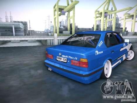 BMW E34 Drift pour GTA San Andreas sur la vue arrière gauche