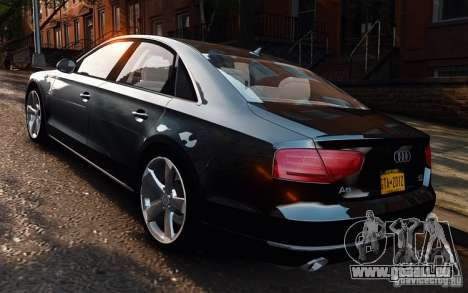 Audi A8 2010 V8 FSI für GTA 4 linke Ansicht